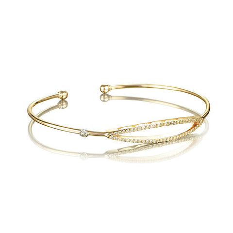 Tacori The Ivy Lane Open Surfboard Diamond Bangle SB206Y-M