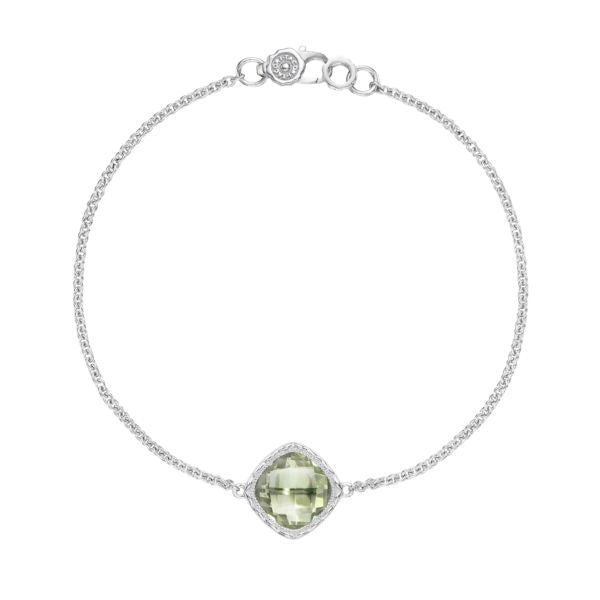 Tacori Solitaire Cushion Gem Bracelet with Prasiolite SB22312