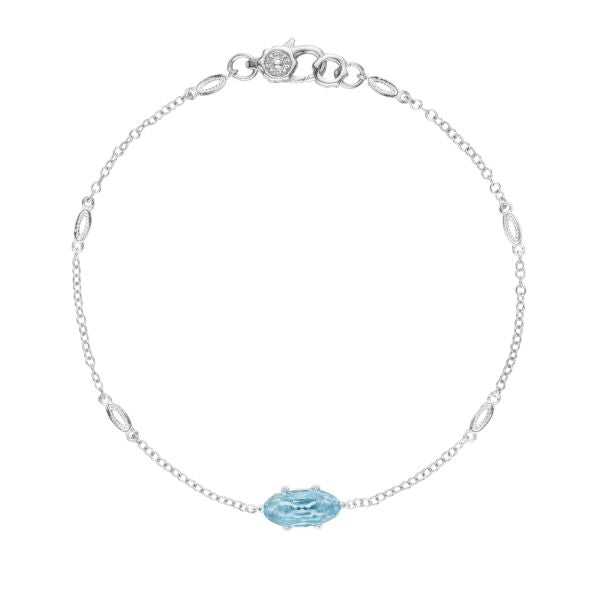 Tacori Solitaire Oval Gem Bracelet with Sky Blue Topaz SB22402
