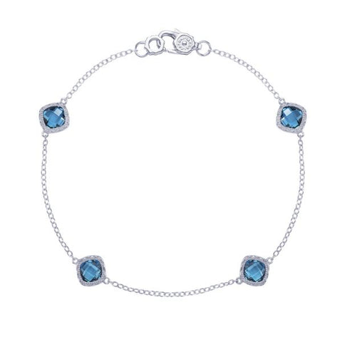 Tacori 4-Station London Blue Topaz Bracelet SB22833