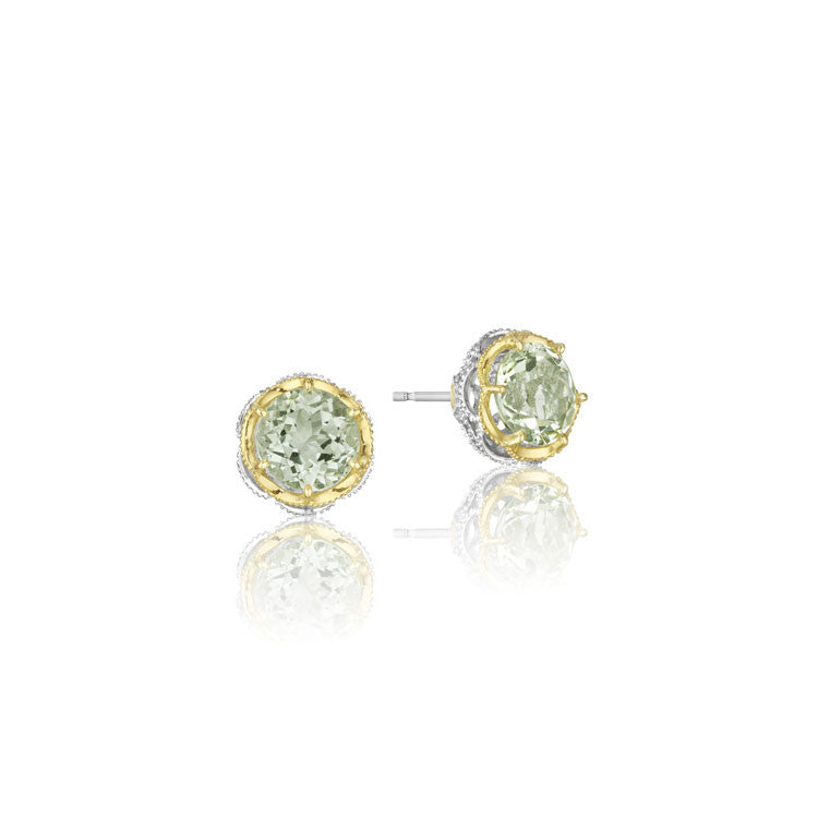 Tacori Color Medley Crescent Crown Prasiolite Stud Earrings SE105Y12