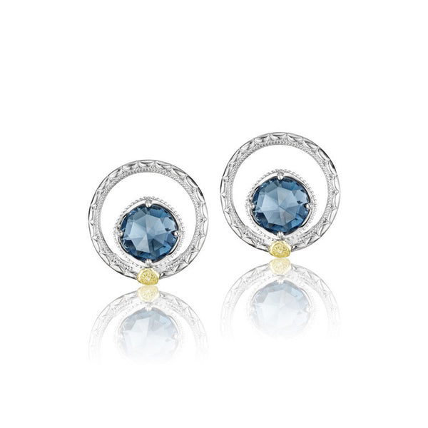 Tacori Island Rains Silver Bloom Gem Studs SE14033