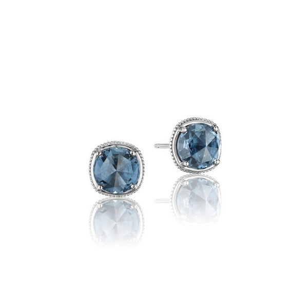 Tacori Island Rains London Blue Topaz Stud Earrings SE15433