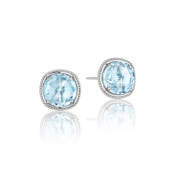 Tacori Island Rains Bold Simply Gem Stud Earrings SE15602