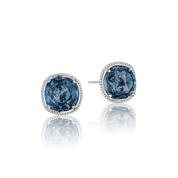 Tacori Island Rains Bold Simply Gem Stud Earrings SE15633