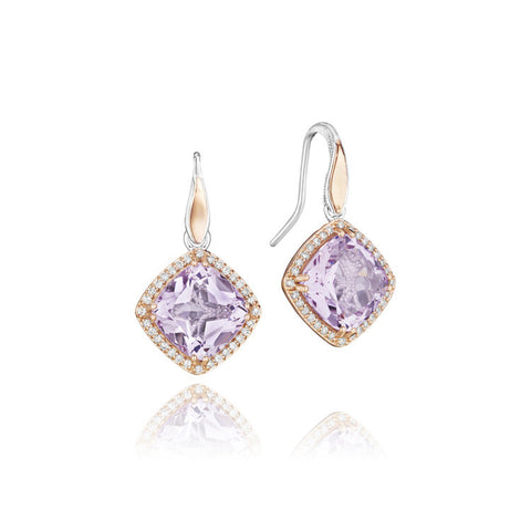 Tacori Lilac Blossoms Pavé Bloom Drop Earrings SE180P13