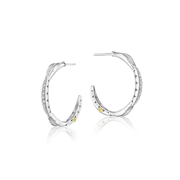Tacori Petite Crescent Curve Diamond Hoop Earrings SE196