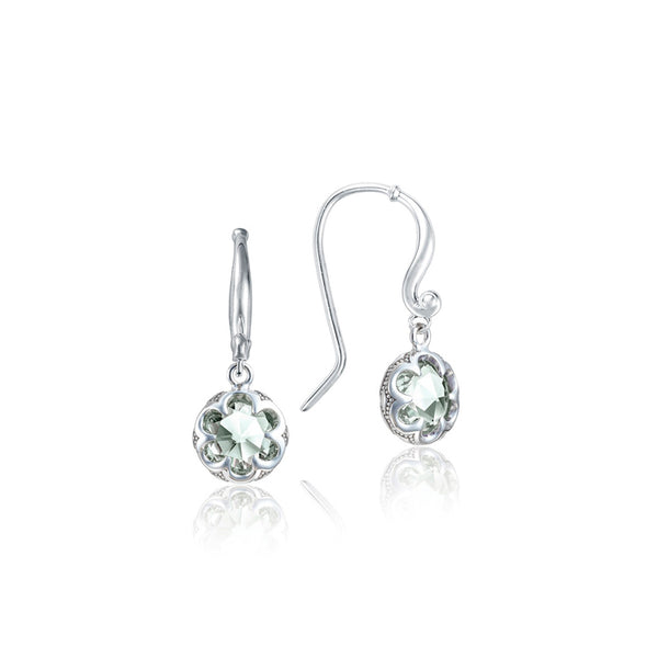 Tacori Petite Crescent Prasiolite Silver Drop Earrings SE21012