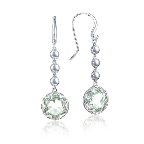 Tacori Cascading Drop Prasiolite Silver Earrings SE21312