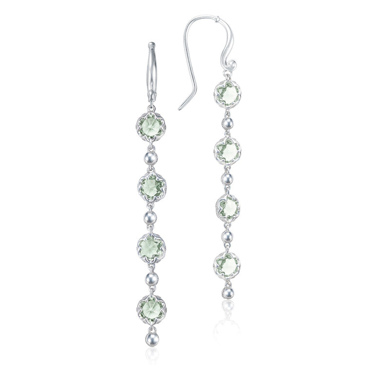 Tacori Rain Drop Prasiolite Silver Earrings SE21412