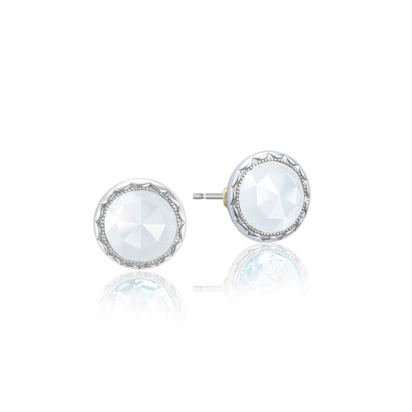 Tacori Bezel Chalcedony Silver Stud Earrings SE21503