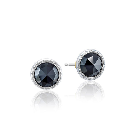 Tacori Bezel Black Onyx Silver Stud Earrings SE21519