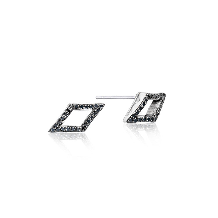 Tacori Pavé Chevron Stud Silver Earrings SE22744
