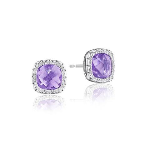 Tacori Cushion Gem Earrings with Amethyst SE24501