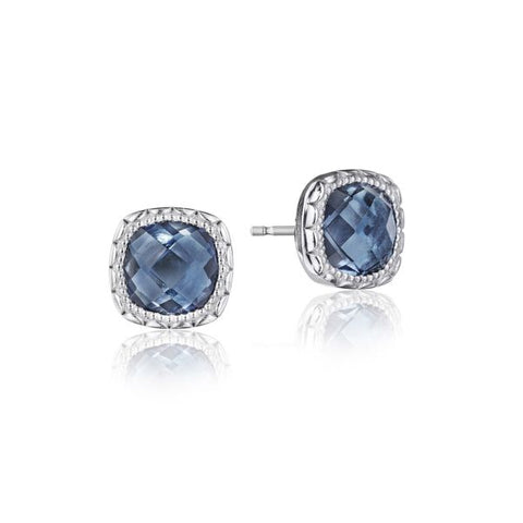 Tacori Cushion Gem Earrings with London Blue Topaz SE24533