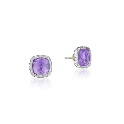 Tacori Cushion Gem Earrings with Amethyst SE24701