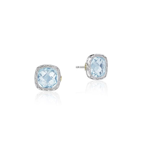 Tacori Cushion Gem Earrings with Sky Blue Topaz SE24702