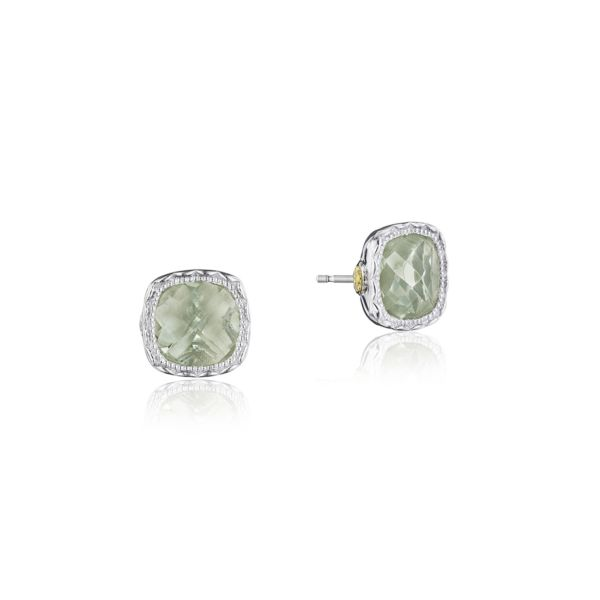 Tacori Cushion Gem Earrings with Prasiolite SE24712
