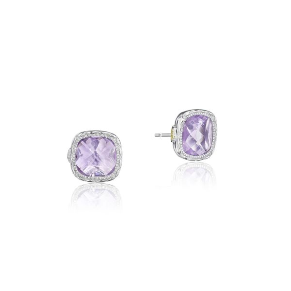 Tacori Cushion Gem Earrings with Rose Amethyst SE24713