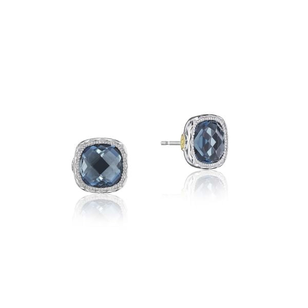 Tacori Cushion Gem Earrings with London Blue Topaz SE24733