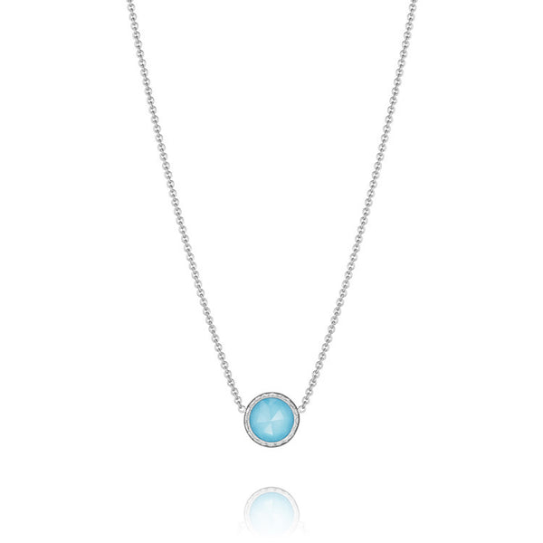 Tacori Floating Bezel Necklace featuring Neo-Turquoise SN15305