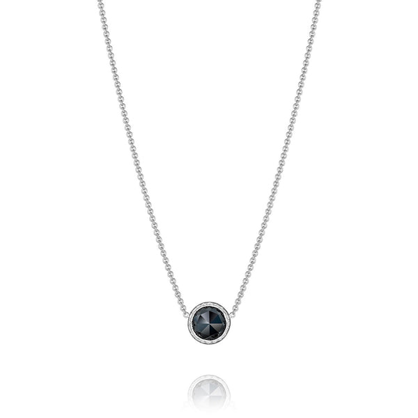 Tacori Floating Bezel Black Onyx Silver Necklace SN15319
