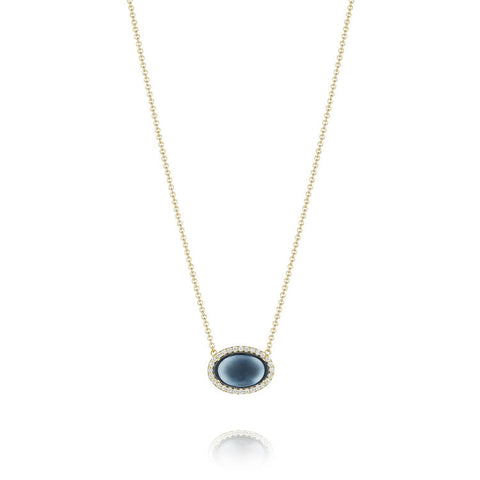Tacori Golden Bay Pavé Oval Cabochon Necklace SN193Y37