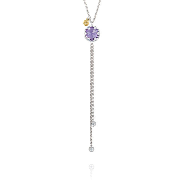 Tacori Sonoma Skies Lariat Silver Amethyst Necklace SN20201
