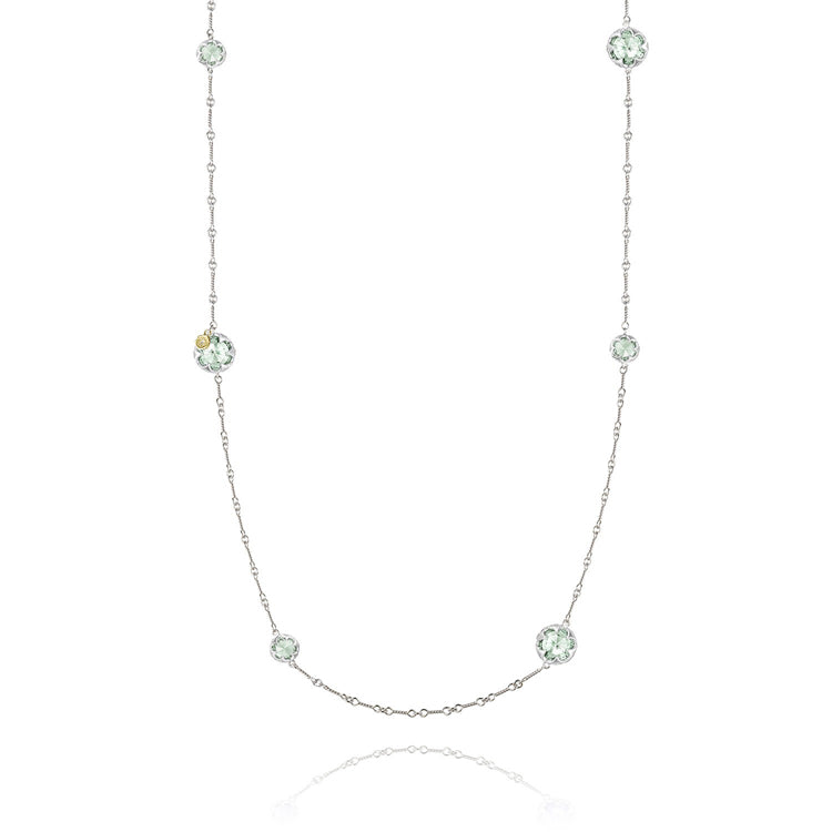 Tacori Gem Drops Prasiolite Silver Necklace SN20312