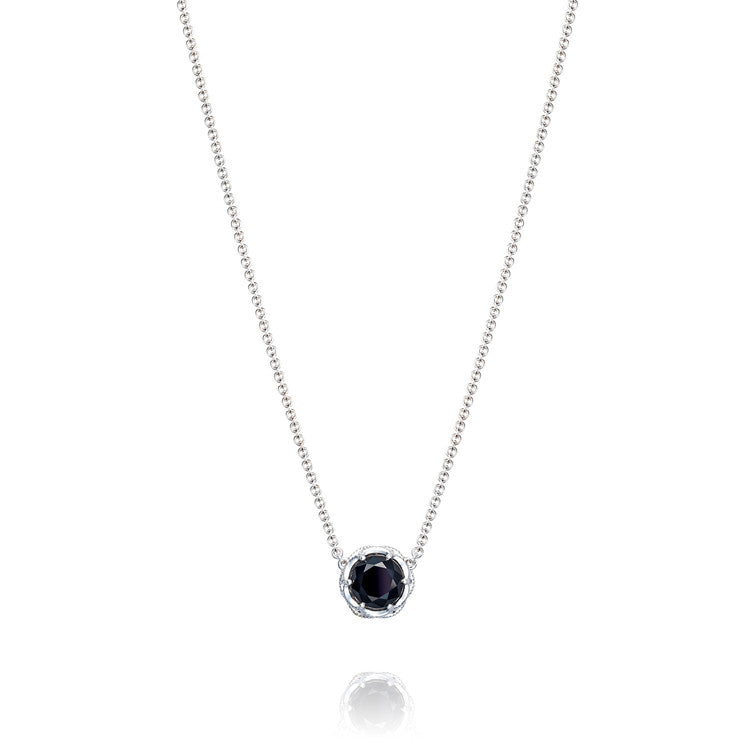 Tacori Classic Rock Crescent Station Black Onyx Necklace SN20419