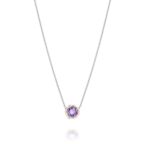 Tacori Lilac Blossoms Crescent Station Amethyst Necklace SN204P01