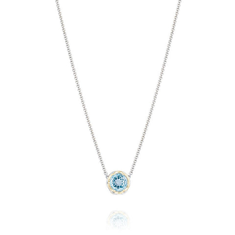 Tacori Island Rains Crescent Station Necklace SN204Y02
