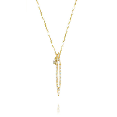 Tacori 18K Yellow Gold The Ivy Lane Open Pavé Surfboard Pendant SN208Y