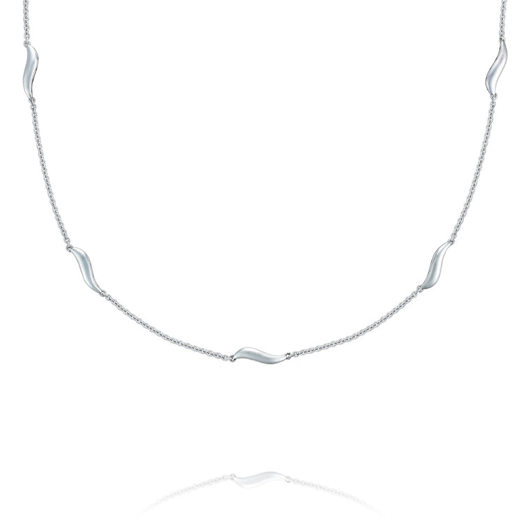 Tacori Crescent Cove Multi-Wave Silver Necklace SN228