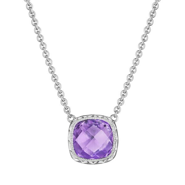 Tacori Cushion Gem Necklace with Amethyst SN23201