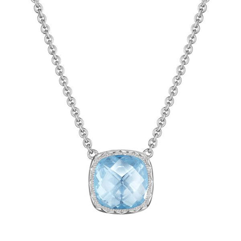 Tacori Cushion Gem Necklace with Sky Blue Topaz SN23202