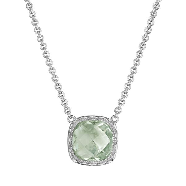 Tacori Cushion Gem Necklace with Prasiolite SN23212