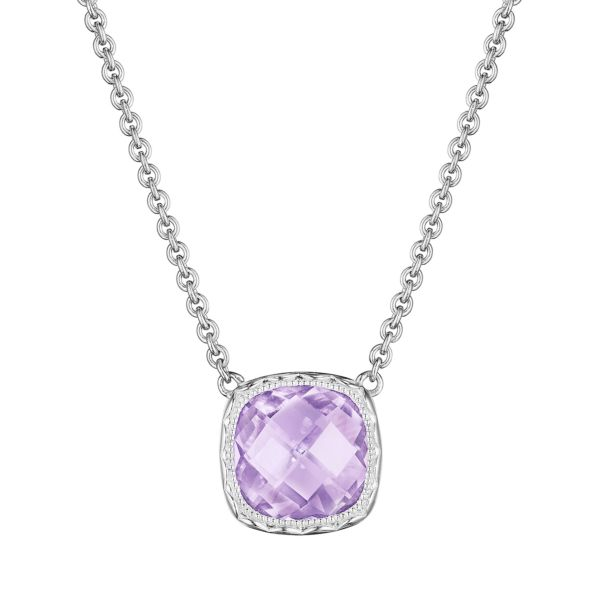 Tacori Cushion Gem Necklace with Rose Amethyst SN23213