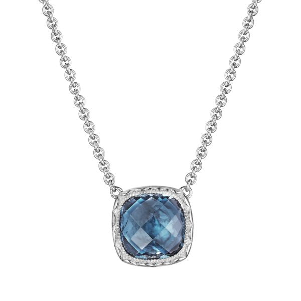 Tacori Cushion Gem Necklace with London Blue Topaz SN23233