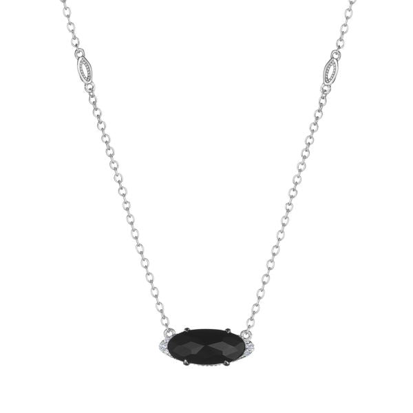 Tacori Solitaire Oval Gem Necklace with Black Onyx SN23319