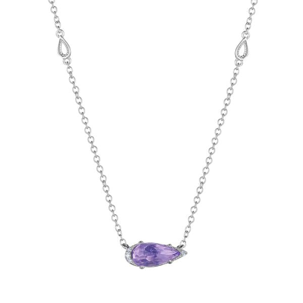 Tacori Solitaire Pear-Shaped Gem Necklace with Amethyst SN23501