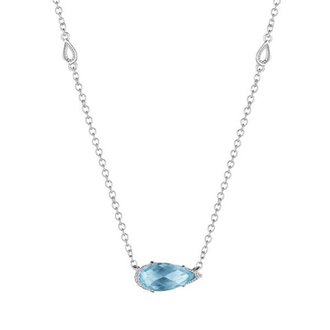 Tacori Solitaire Pear-Shaped Gem Necklace with Sky Blue Topaz SN23502