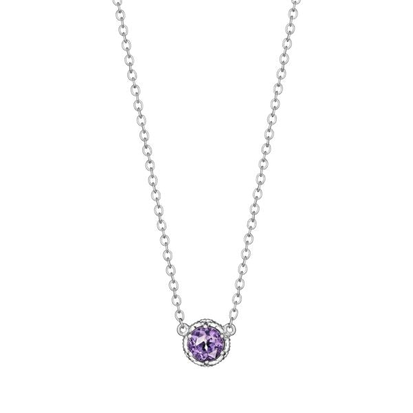 Tacori Cushion Gem Necklace with Amethyst SN23601