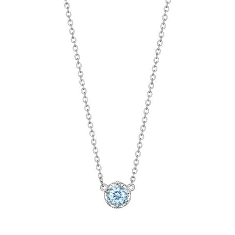 Tacori Cushion Gem Necklace with Sky Blue Topaz SN23602