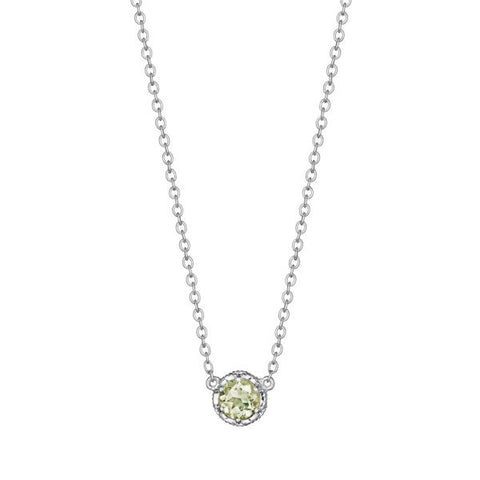 Tacori Cushion Gem Necklace with Prasiolite SN23612