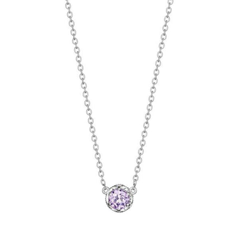 Tacori Cushion Gem Necklace with Rose Amethyst SN23613