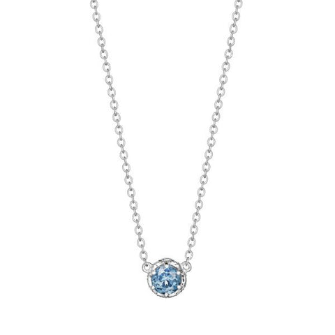 Tacori Cushion Gem Necklace with London Blue Topaz SN23633