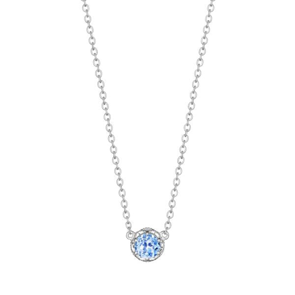 Tacori Cushion Gem Necklace with Swiss Blue Topaz SN23645
