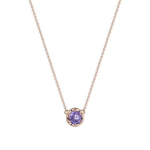 Tacori Petite Crescent Station Rose Amethyst Necklace SN23713FP
