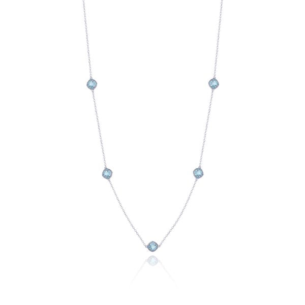 Tacori 5-Station Sky Blue Topaz Silver Necklace SN23902